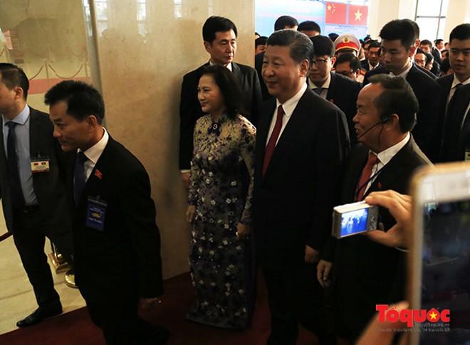 Tổng Bí thư, Chủ tịch Trung Quốc Tập Cận Bình dự lễ khánh thành Cung hữu nghị Việt - Trung - Ảnh 3.