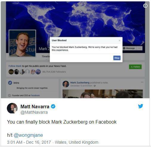 Facebook đã cho phép người dùng chặn... Mark Zuckerberg - Ảnh 3.