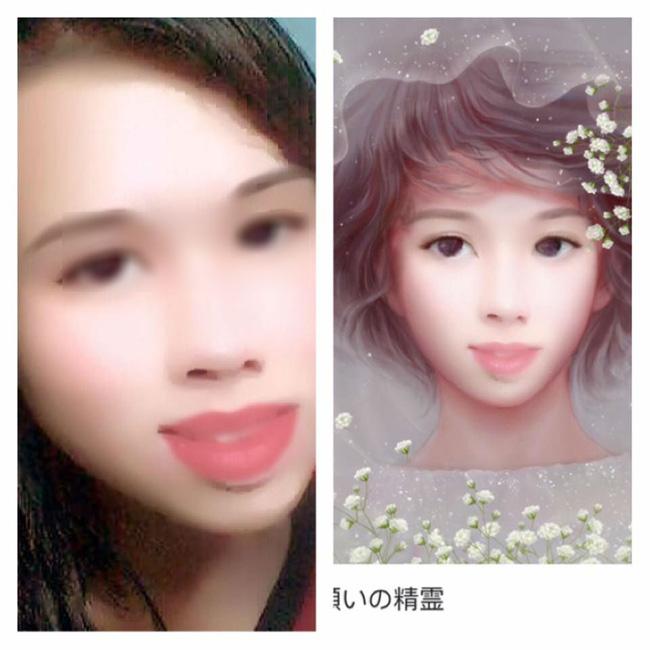 Cô gái có gương mặt đầy khuyết điểm được chỉnh sửa xinh lung linh nhờ phần mềm điện thoại - Ảnh 4.