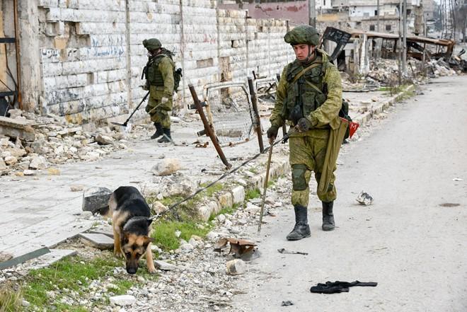Lính Nga vật lộn với bom mìn chưa nổ ở Aleppo - Ảnh 4.