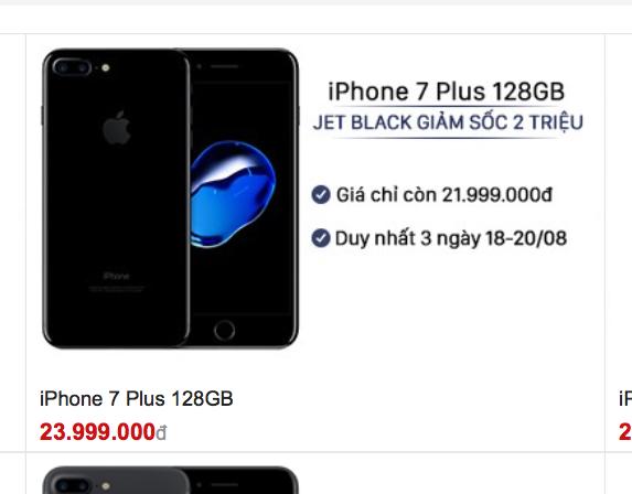 Ế ẩm, các đại lý đồng loạt giảm giá mạnh iPhone 7 đen bóng trước thềm iPhone 8 ra mắt - Ảnh 4.