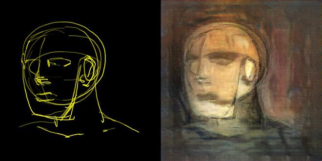 Trí tuệ nhân tạo đã có khả năng biến các nét vẽ nguệch ngoạc thành kiệt tác nghệ thuật - Ảnh 4.