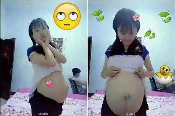 Các bé gái Trung Quốc rộ trào lưu livestream khoe bụng chửa vượt mặt - ảnh 4