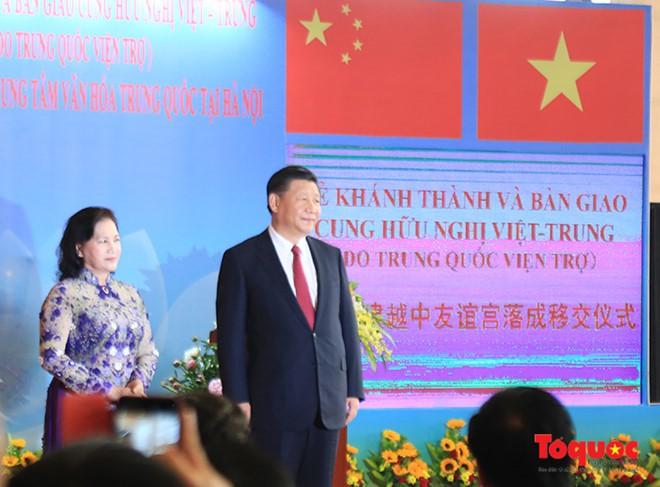 Tổng Bí thư, Chủ tịch Trung Quốc Tập Cận Bình dự lễ khánh thành Cung hữu nghị Việt - Trung - Ảnh 4.