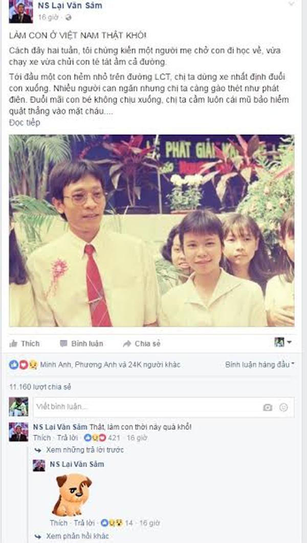 Chia sẻ 'Làm con ở Việt Nam thật khó!' của nhà báo Lại Văn Sâm gây sốt - ảnh 1