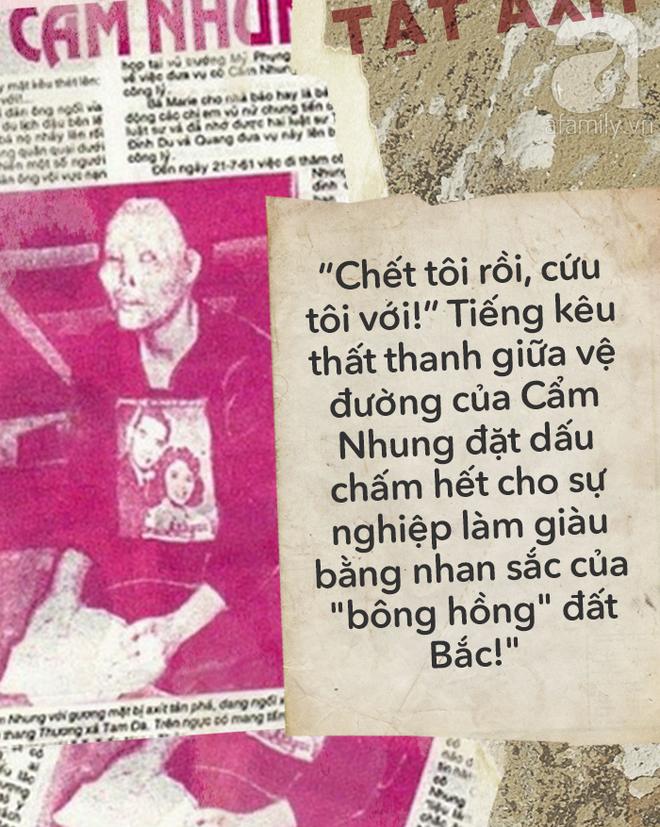 """Vũ nữ Cẩm Nhung: Bi kịch """"bông hồng"""" đất Bắc bị đánh ghen tạt axit đến biến dạng gây rúng động Sài Gòn một thời - Ảnh 5."""