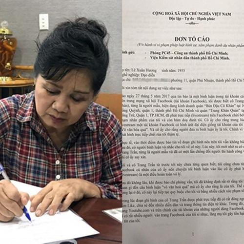 Trang Trần thách kiện, nghệ sĩ Xuân Hương chính thức viết đơn tố cáo lên công an - Ảnh 2.