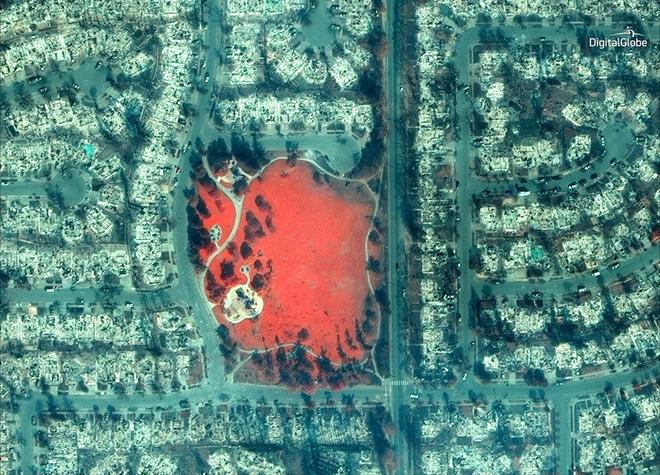 Mỹ: Toàn cảnh vụ cháy rừng khủng khiếp tại California qua những bức ảnh vệ tinh - Ảnh 6.