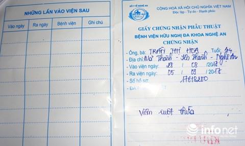 Chuyện kỳ lạ ở Nghệ An: Một bệnh nhân phải cắt ruột thừa... 2 lần - ảnh 5