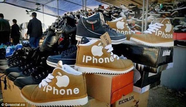 Hài hước những siêu phẩm hàng nhái Trung Quốc: Dép Kine, điện thoại 'quả lê' - Ảnh 6.