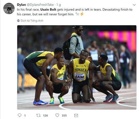 Usain Bolt chấn thương, lê lết về đích ở lần chạy cuối cùng trong sự nghiệp - Ảnh 8.