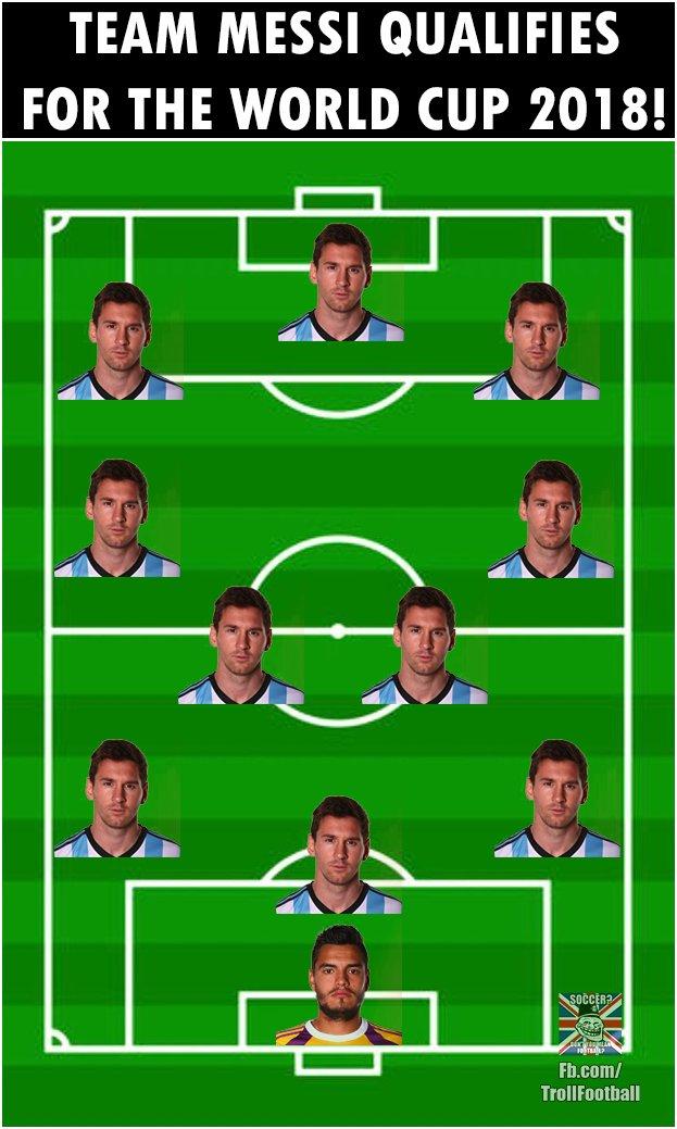Biếm họa Messi cõng cả tuyển Argentina trên lưng - Ảnh 6.