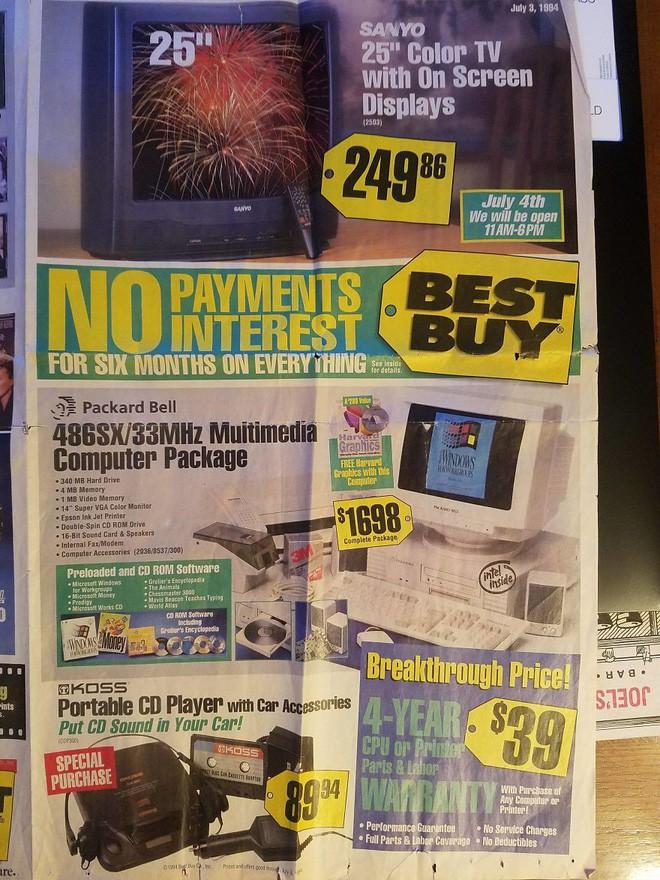 Nhìn lại hàng công nghệ đỉnh cao những năm 90 đây: máy tính RAM tận 1MB, TV 31 inch có jack A/V hiện đại - Ảnh 7.