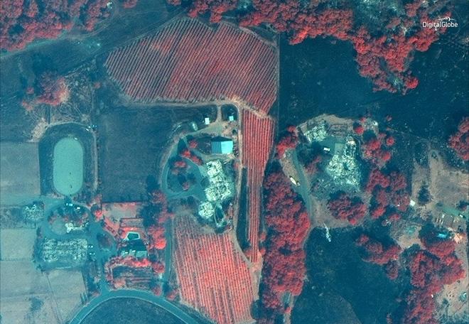 Mỹ: Toàn cảnh vụ cháy rừng khủng khiếp tại California qua những bức ảnh vệ tinh - Ảnh 8.
