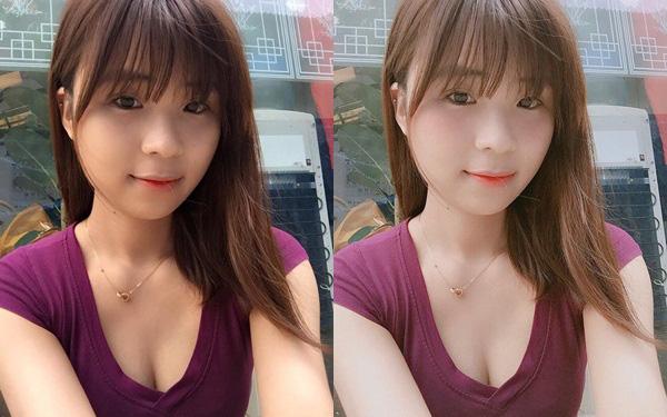 Cô gái có gương mặt đầy khuyết điểm được chỉnh sửa xinh lung linh nhờ phần mềm điện thoại - Ảnh 9.