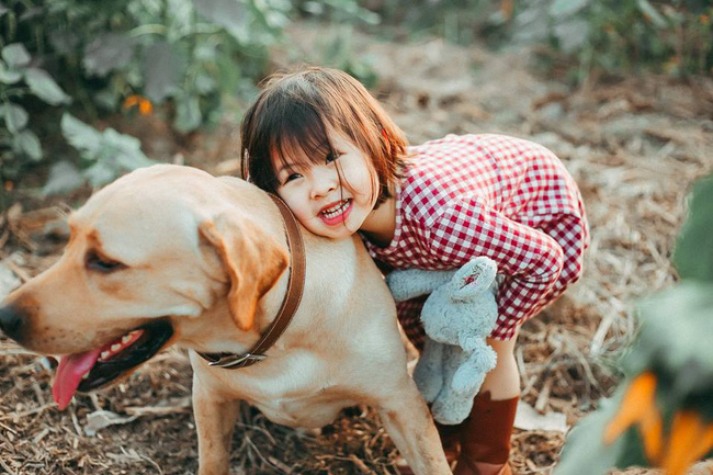 Khuôn mặt sợ chó siêu đáng yêu của cô bé má phính Hà Nội ăn đứt Vô Diện lạnh lùng - Ảnh 9.