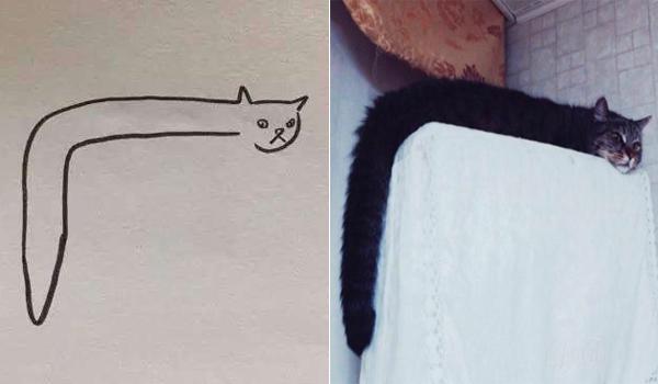 """Cô Giáo Cho Bé Điểm 0 Vì Vẽ Mèo Như Rắn Nhưng Bất Ngờ Khi Nhìn. """""""