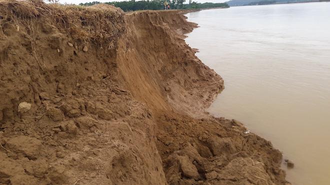 Video: Hàng trăm nghìn mét đất bị sông Lam nuốt chửng từng ngày - Ảnh 8.