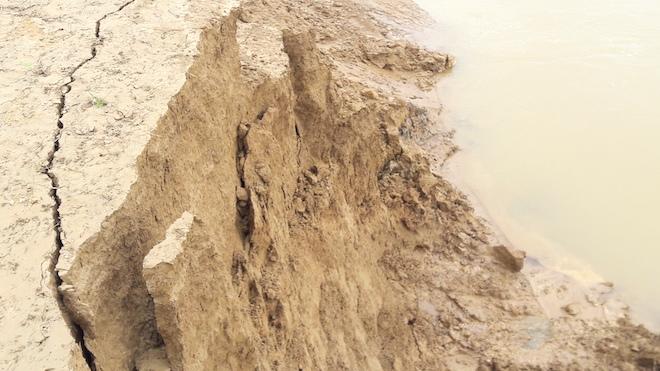 Video: Hàng trăm nghìn mét đất bị sông Lam nuốt chửng từng ngày - Ảnh 5.