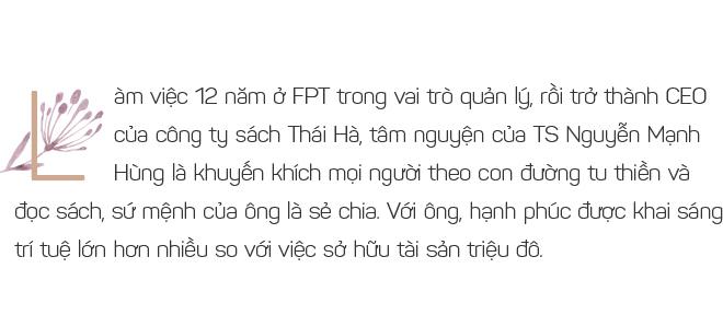TS Nguyễn Mạnh Hùng: Từ triệu phú đôla tuổi 26 đến người đàn ông hạnh phúc không nhờ tiền bạc - Ảnh 1.