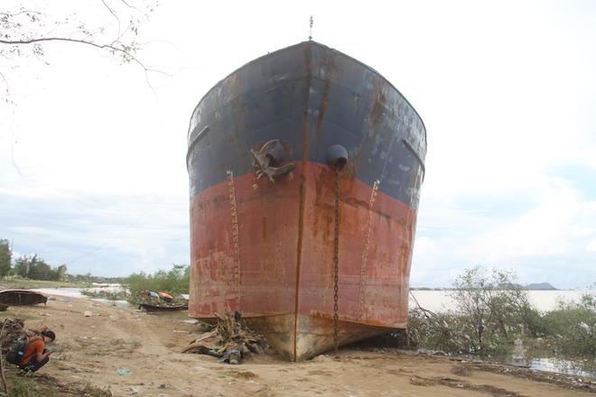 Ảnh: Những con tàu khổng lồ đang mắc cạn trên biển Nghệ An sau bão Talas - Ảnh 11.