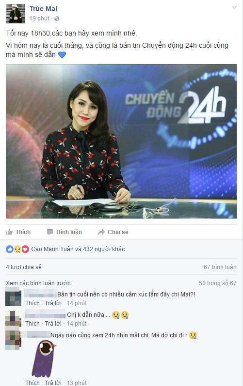 BTV Trúc Mai dừng công việc tại VTV - Ảnh 1.
