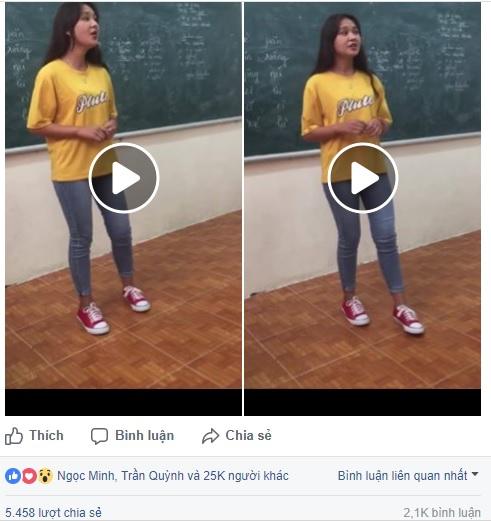 Đoạn clip của nữ sinh hút triệu view và bình luận khiếm nhã của dân mạng - Ảnh 1.
