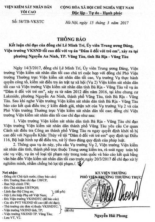 VKSND Tối cao yêu cầu khởi tố bị can dâm ô trẻ em ở Vũng Tàu - Ảnh 1.