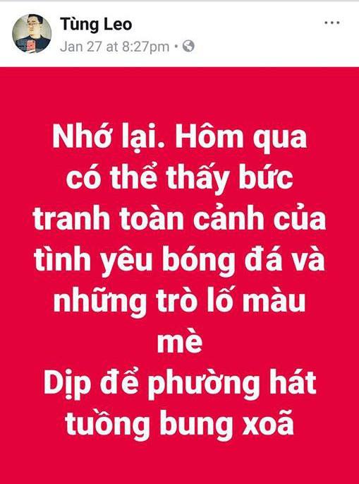 Bị Đàm Vĩnh Hưng mắng vì status gây hiểu lầm, MC Tùng Leo lên tiếng - Ảnh 1.