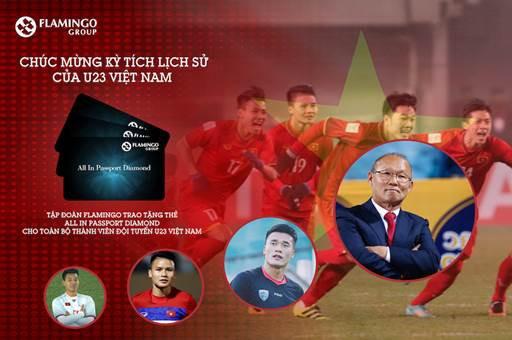 Flamingo Group trao tặng hộ chiếu kim cương cho đội tuyển U23 Việt Nam - Ảnh 1.