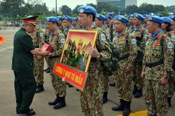 Bệnh viện dã chiến cấp 2 số 1 Việt Nam xuất quân thực hiện nhiệm vụ tại Phái bộ Gìn giữ hòa bình Liên hợp quốc Nam Sudan - ảnh 4