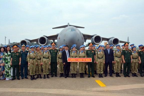 Bệnh viện dã chiến cấp 2 số 1 Việt Nam xuất quân thực hiện nhiệm vụ tại Phái bộ Gìn giữ hòa bình Liên hợp quốc Nam Sudan - ảnh 5