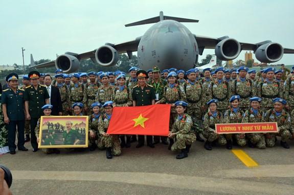 Bệnh viện dã chiến cấp 2 số 1 Việt Nam xuất quân thực hiện nhiệm vụ tại Phái bộ Gìn giữ hòa bình Liên hợp quốc Nam Sudan - ảnh 6