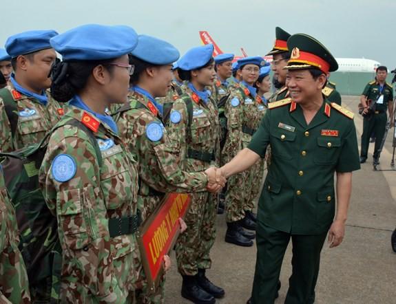 Bệnh viện dã chiến cấp 2 số 1 Việt Nam xuất quân thực hiện nhiệm vụ tại Phái bộ Gìn giữ hòa bình Liên hợp quốc Nam Sudan - ảnh 7