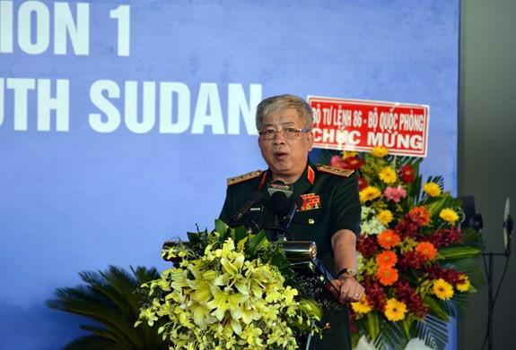 Bệnh viện dã chiến cấp 2 số 1 Việt Nam xuất quân thực hiện nhiệm vụ tại Phái bộ Gìn giữ hòa bình Liên hợp quốc Nam Sudan - ảnh 1