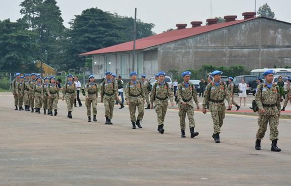 Bệnh viện dã chiến cấp 2 số 1 Việt Nam xuất quân thực hiện nhiệm vụ tại Phái bộ Gìn giữ hòa bình Liên hợp quốc Nam Sudan - ảnh 9