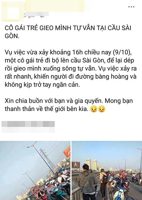 Cô gái để lại thư, dựng màn tự tử giả trên cầu Sài Gòn, nguyên nhân thực sự là đây - ảnh 1