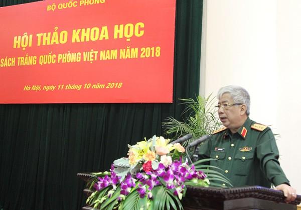 Hội thảo khoa học Sách Trắng Quốc phòng Việt Nam năm 2018 - Ảnh 1.