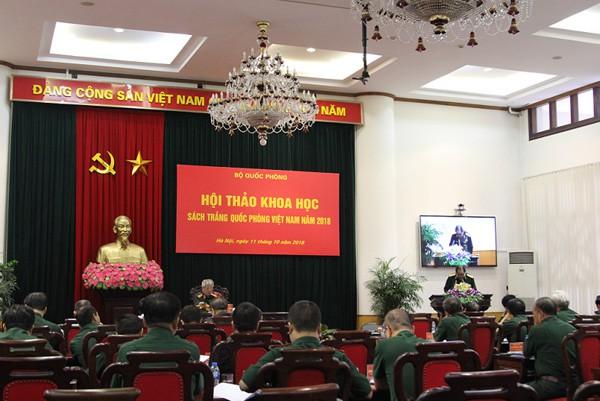 Hội thảo khoa học Sách Trắng Quốc phòng Việt Nam năm 2018 - Ảnh 2.
