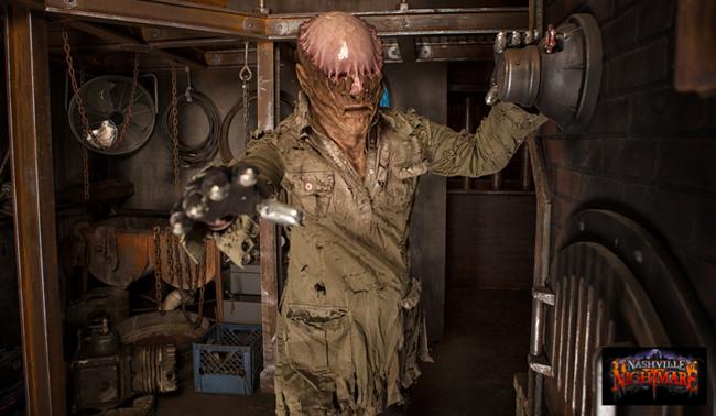 Nhà ma Nashville Nightmare là khu giải trí cảm giác mạnh và rùng rợn rất được yêu thích, đặc biệt là trong dịp Halloween.