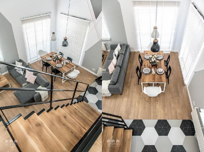 Chỉ vỏn vẹn 30m², căn hộ có gác lửng siêu yêu này sẽ khiến bạn trầm trồ không ngớt - Ảnh 5.
