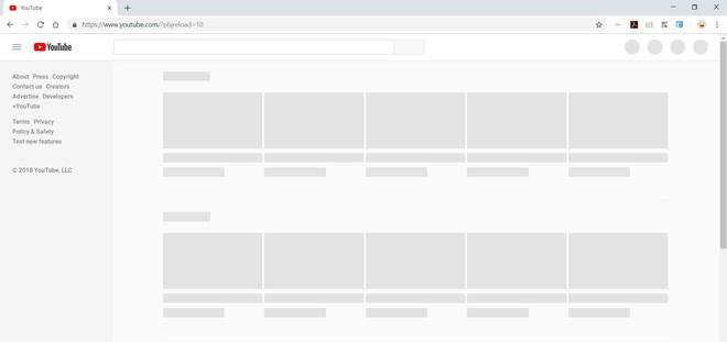 YouTube đang bị sập trên toàn cầu, màn hình trắng xóa không hiển thị video - Ảnh 1.