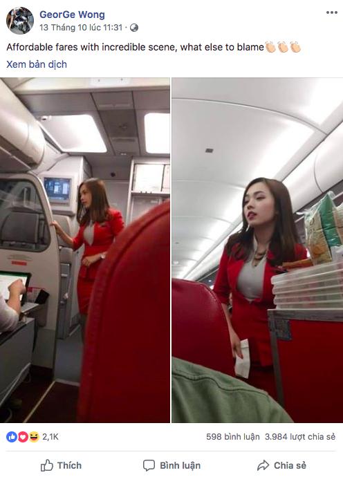 Nữ tiếp viên hàng không Malaysia gây sốt trên MXH chỉ sau tấm ảnh chụp trộm của hành khách - Ảnh 1.