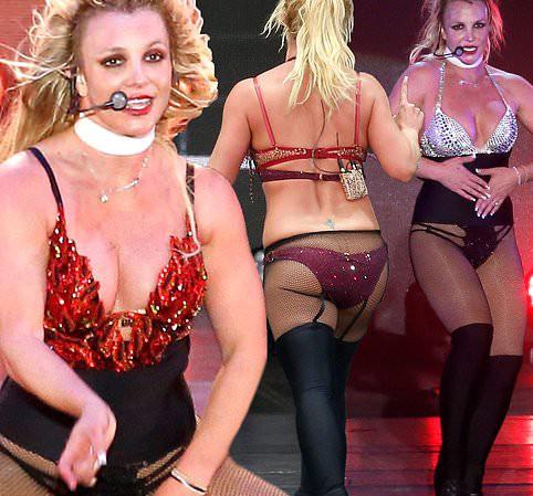 Britney Spears lộ eo ngấn mỡ, dáng thô khi diện đồ gợi cảm quá mức - Ảnh 1.