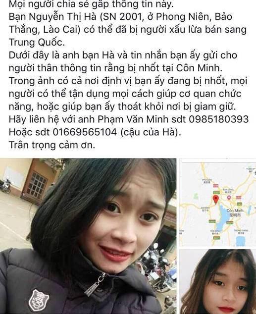 Cô gái 17 tuổi gửi định vị từ Trung Quốc báo tin bị bắt cóc - ảnh 1