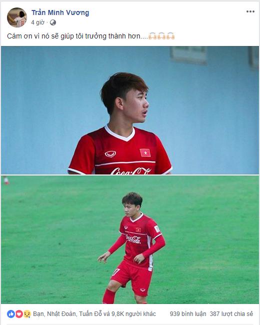 Sau quyết định của thầy Park, Minh Vương gửi lời cảm ơn và 1 tràng vỗ tay - Ảnh 1.