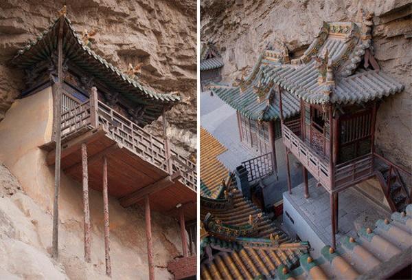 Khám phá ngôi chùa treo huyền bí ngàn năm tuổi ở Trung Quốc - Ảnh 7.