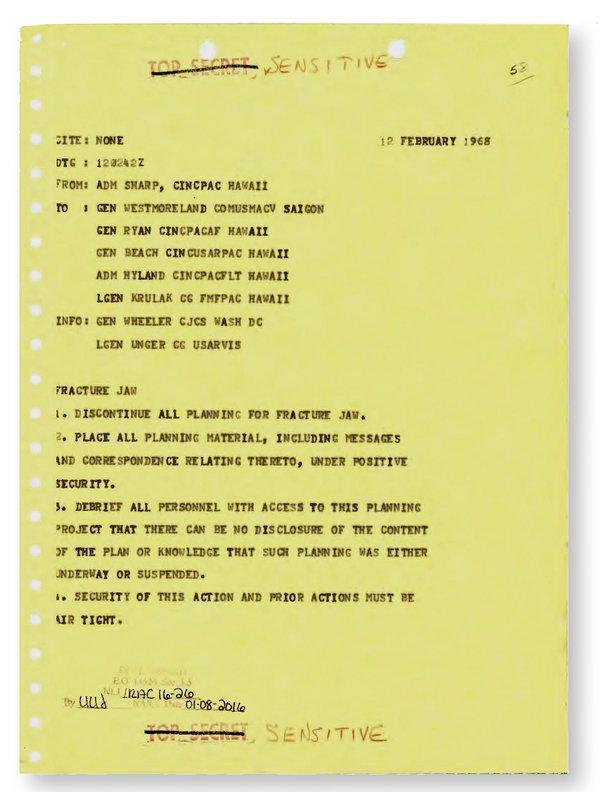 Giải mật tài liệu: Tướng Mỹ qua mặt TT Johnson, lên kế hoạch đưa vũ khí hạt nhân tới Việt Nam - Ảnh 4.