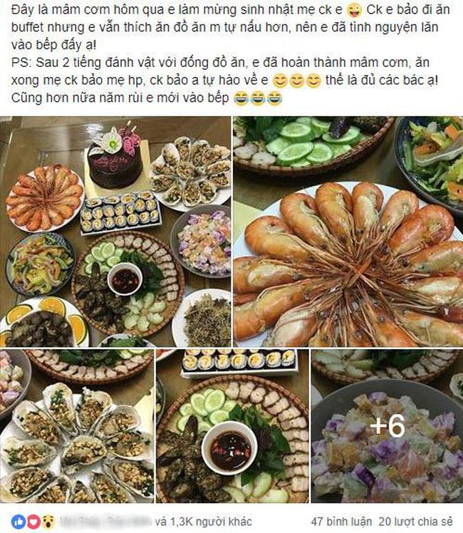 Dâu đảm mở tiệc mừng sinh nhật mẹ chồng, 8 món hải sản hoành tráng chỉ 440 nghìn, một mình làm 2 tiếng là xong - Ảnh 1.