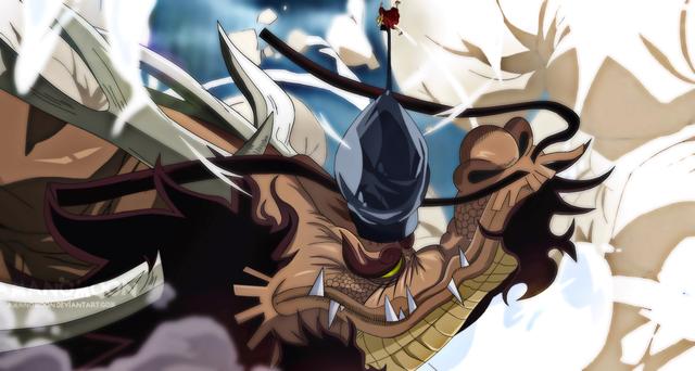 Thậm chí Kaido chỉ cần dùng một đòn duy nhất cũng khiến Lù ngất xỉu, nằm  thằng cẳng một góc. Sau đó còn bị mấy tên lính quèn lôi đi ném nhốt vào  ngục.
